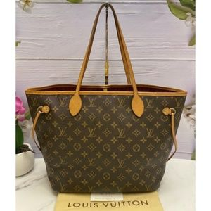 Neverfull MM Monogram Pink Interior Tote (AR0187)